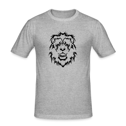 Karavaan Lion Black - Mannen slim fit T-shirt
