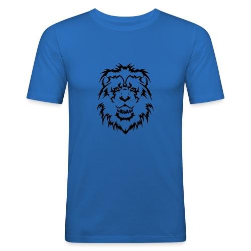 Karavaan Lion Black - Mannen slim fit T-shirt
