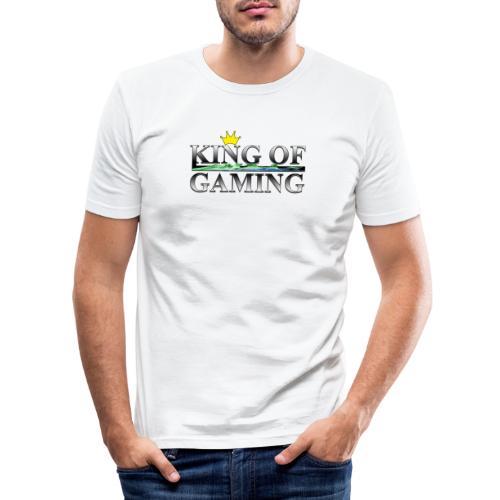 King of Gaming Gamer Geschenk - Männer Slim Fit T-Shirt