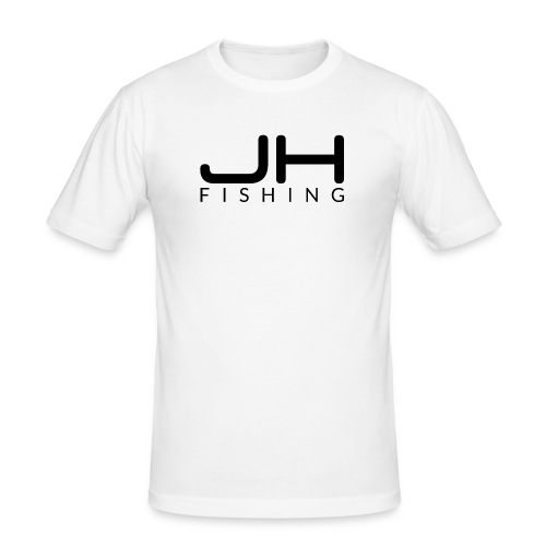 JH FISHING-Logo (Schwarz) - Männer Slim Fit T-Shirt