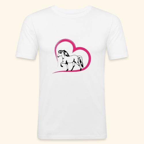 Herz-Tölter - Männer Slim Fit T-Shirt