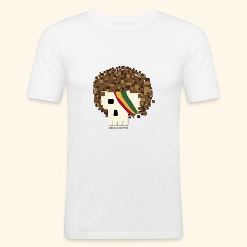 RASTA SKULL - T-shirt près du corps Homme