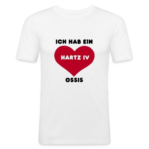 Ich hab ein Hartz IV Ossis, black - Männer Slim Fit T-Shirt