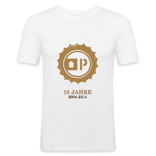 druck_10_jahre_light - Männer Slim Fit T-Shirt