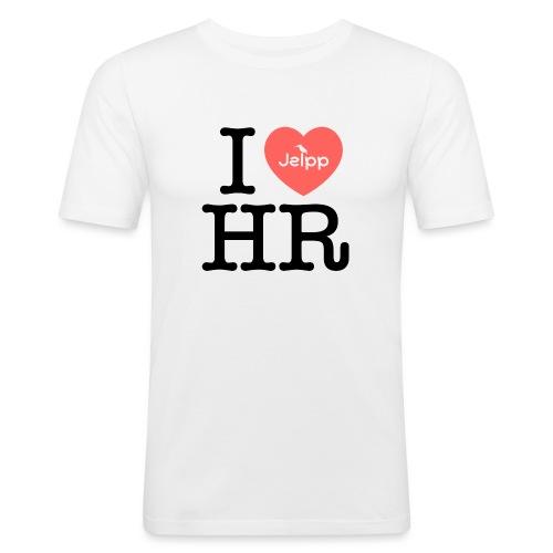 I love HR - Miesten tyköistuva t-paita