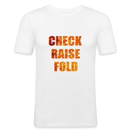 Check Raise Mug - Men's Slim Fit T-Shirt