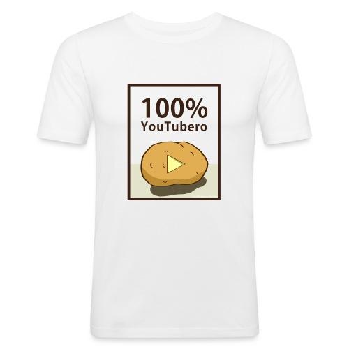 100-_youtubero - Maglietta aderente da uomo