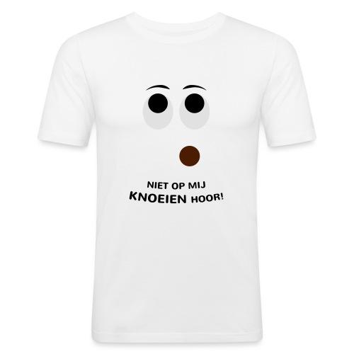 Grappige Rompertjes: Niet op mij knoeien hoor - Mannen slim fit T-shirt