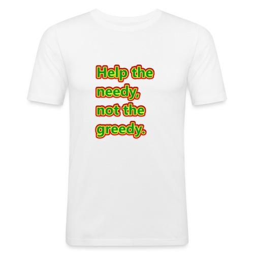 help - Men's Slim Fit T-Shirt