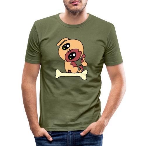 Kawaii le chien mignon - T-shirt près du corps Homme