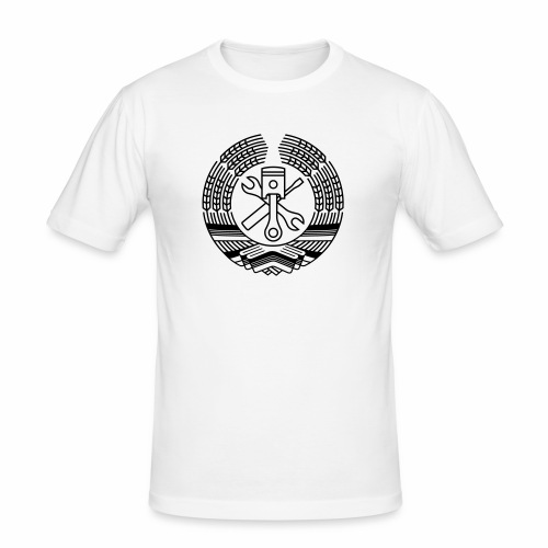 DDR Tuning Coat of Arms 1c (+ Your Text) - Men's Slim Fit T-Shirt