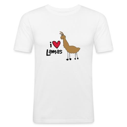 I love Lamas - Männer Slim Fit T-Shirt