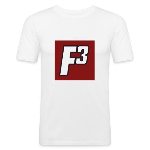 F3 Standard Logo png - Männer Slim Fit T-Shirt
