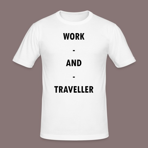 WORK AND TRAVELLER - Männer Slim Fit T-Shirt