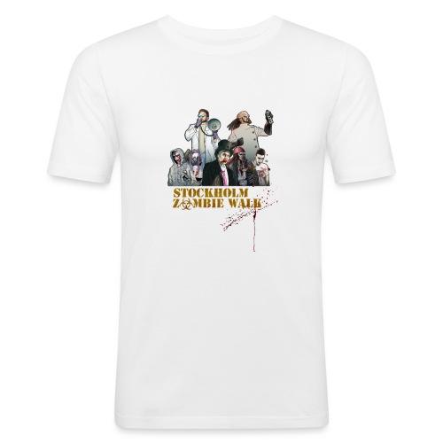 Stockholm Zombie Walk 2016 - Baseball S/V Herr - Slim Fit T-shirt herr