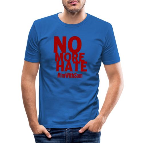 No More Hate- Red Text - Men's Slim Fit T-Shirt