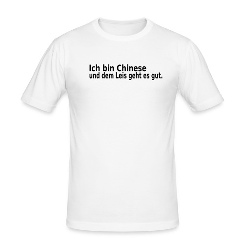 chinese China Reis - Männer Slim Fit T-Shirt
