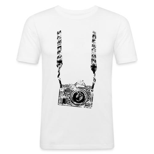 Kamera - Männer Slim Fit T-Shirt