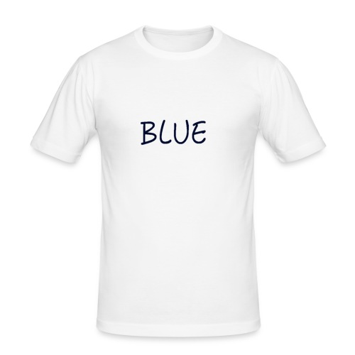 BLUE - Mannen slim fit T-shirt