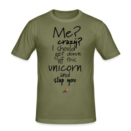 Crazy Unicorn Style (Dark) - Men's Slim Fit T-Shirt