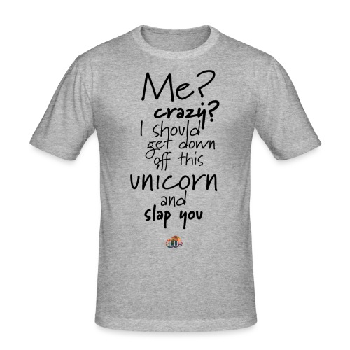 Crazy Unicorn Style (Dark) - Men's Slim Fit T-Shirt