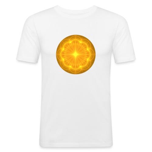 Golden Radiance Mandala Heart - Mannen slim fit T-shirt