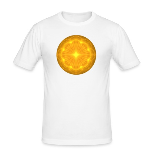 Golden Radiance Mandala Heart - slim fit T-shirt