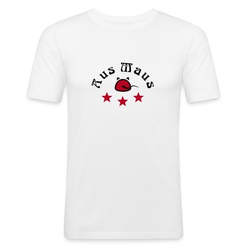 Aus Maus - Sterne - Männer Slim Fit T-Shirt
