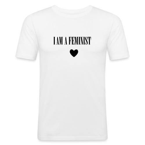 BAG I AM A FEMINIST - Mannen slim fit T-shirt