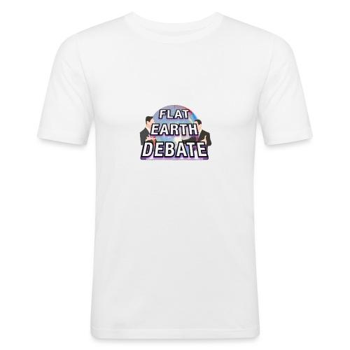 Flat Earth Debate - Men's Slim Fit T-Shirt