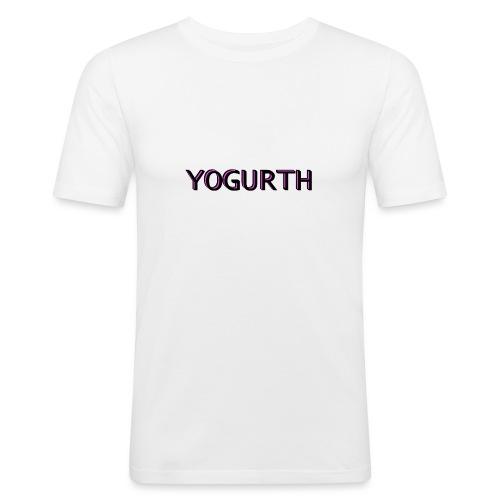 YOGURTH black 3D - Maglietta aderente da uomo
