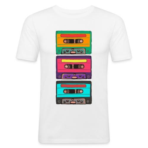 Colorful Cassettes row - Slim Fit T-shirt herr