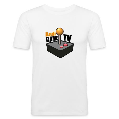 Andi GAME TV (Black) - Männer Slim Fit T-Shirt