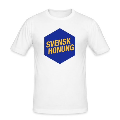 Svensk honung Hexagon Blå/Gul - Slim Fit T-shirt herr