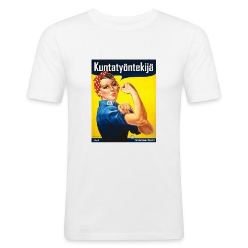 Kuntatyöntekijä - Naisten t-paita - Miesten tyköistuva t-paita