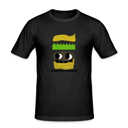 MONSTER BURGER - Männer Slim Fit T-Shirt