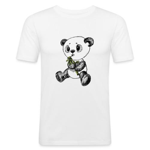 Panda bjørn farvet scribblesirii - Herre Slim Fit T-Shirt