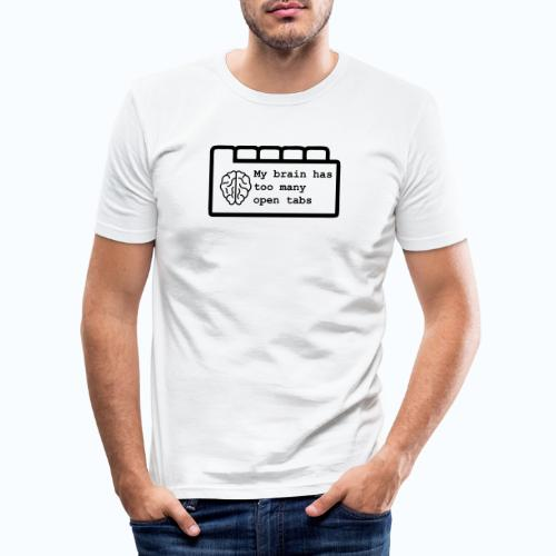 Te veel open tabs - slim fit T-shirt
