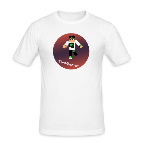 Hoodie met TwoGames logo - Mannen slim fit T-shirt