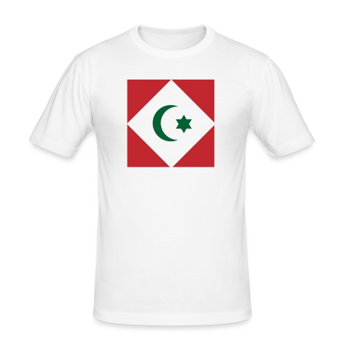 berber vlag - Mannen slim fit T-shirt