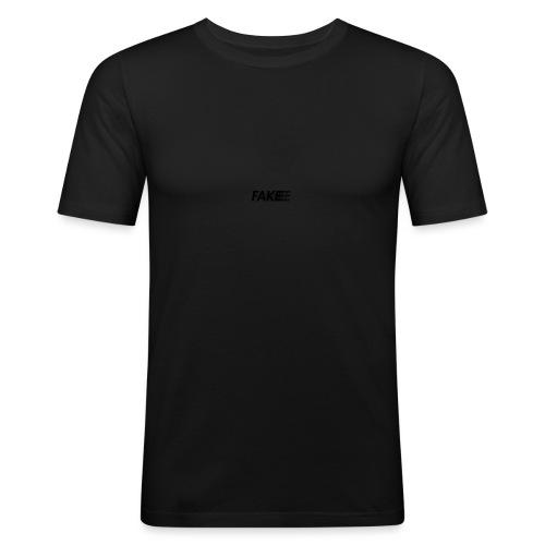 fake logo corruped - Maglietta aderente da uomo