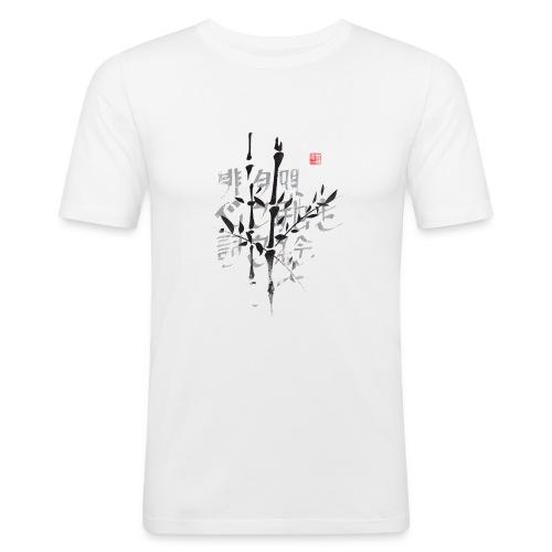 Haiku bambú - Camiseta ajustada hombre