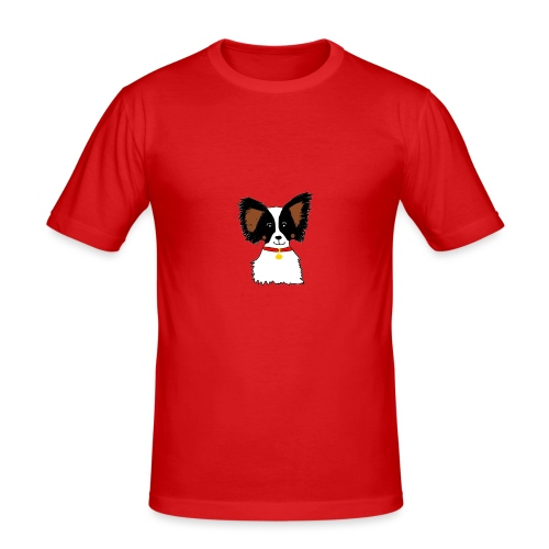 Papillon dog - Men's Slim Fit T-Shirt