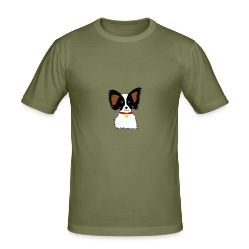 Papillon dog - Men's Slim Fit T-Shirt