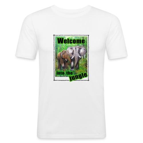 Willkommen im Dschungel - Männer Slim Fit T-Shirt