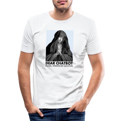 Prière de chatbot - T-shirt près du corps Homme