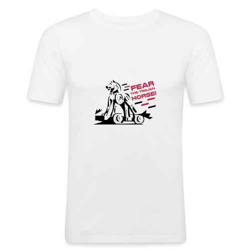 Fear the Trojan Horse - Men's Slim Fit T-Shirt