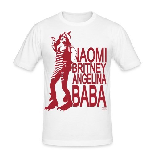 Naomi Brizney Angelina Baba mit Halbakt - Männer Slim Fit T-Shirt