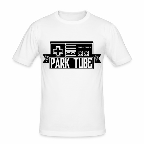ParkTube Gaming Logo schwarz - Männer Slim Fit T-Shirt