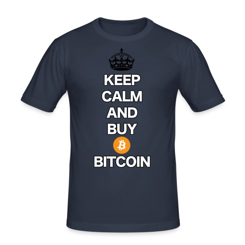 btc t shirt design2 png - Männer Slim Fit T-Shirt
